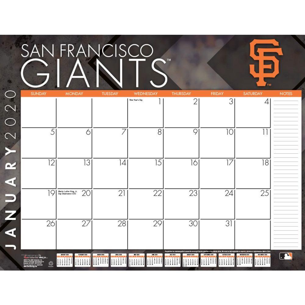 San Francisco Giants 2021 Desk Pad