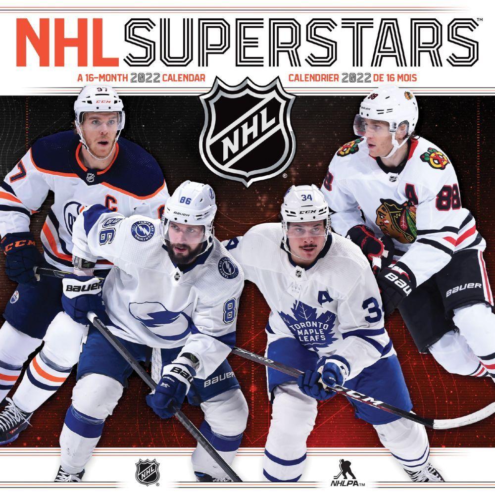 NHL Superstars Bilingual 2022 Mini Wall Calendar