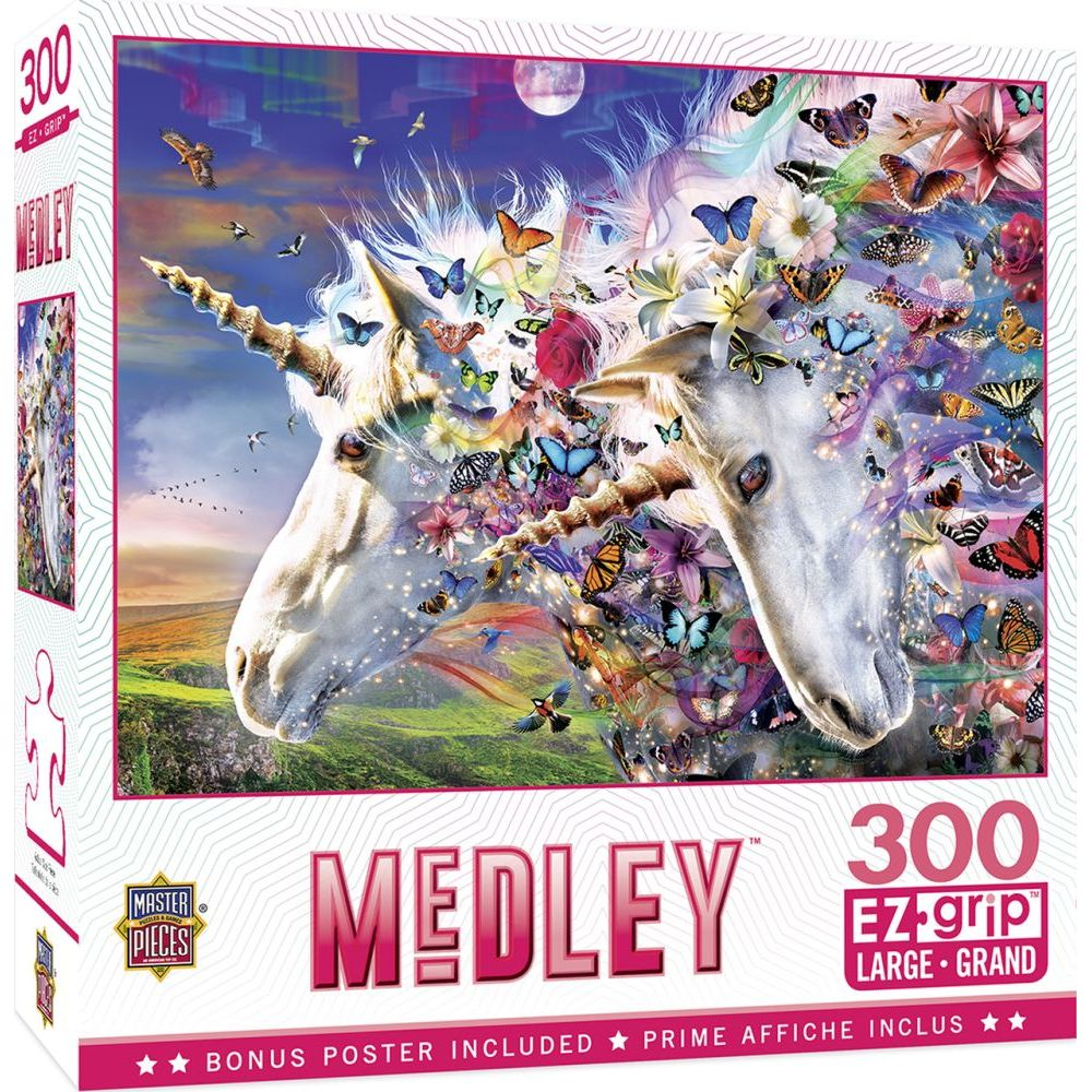 Unicorns & Butterflies EZ Grip 300pc Puzzle