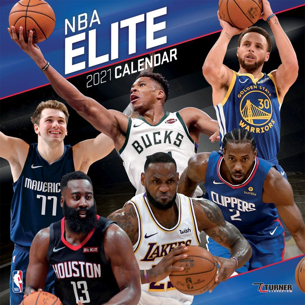 2021 NBA All Stars Wall Calendar
