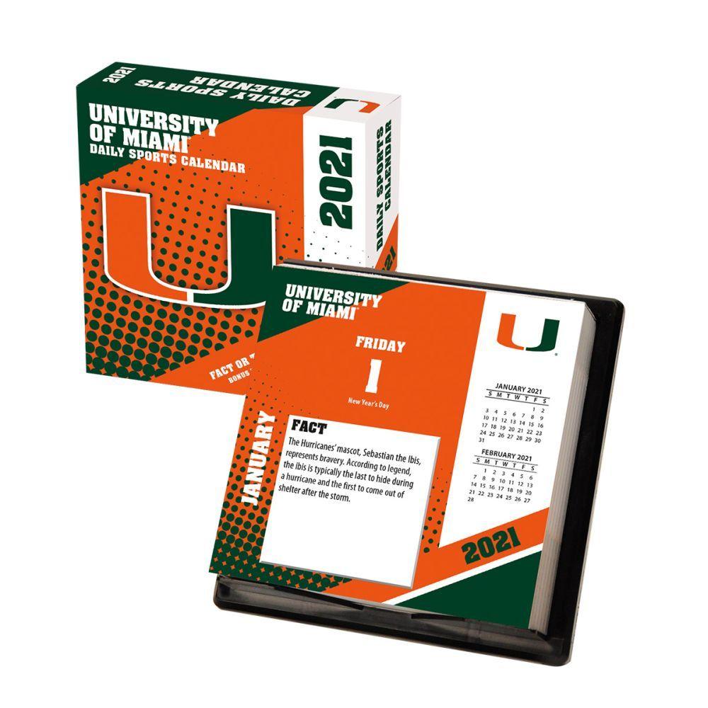 2021 Miami Hurricanes Desk Calendar
