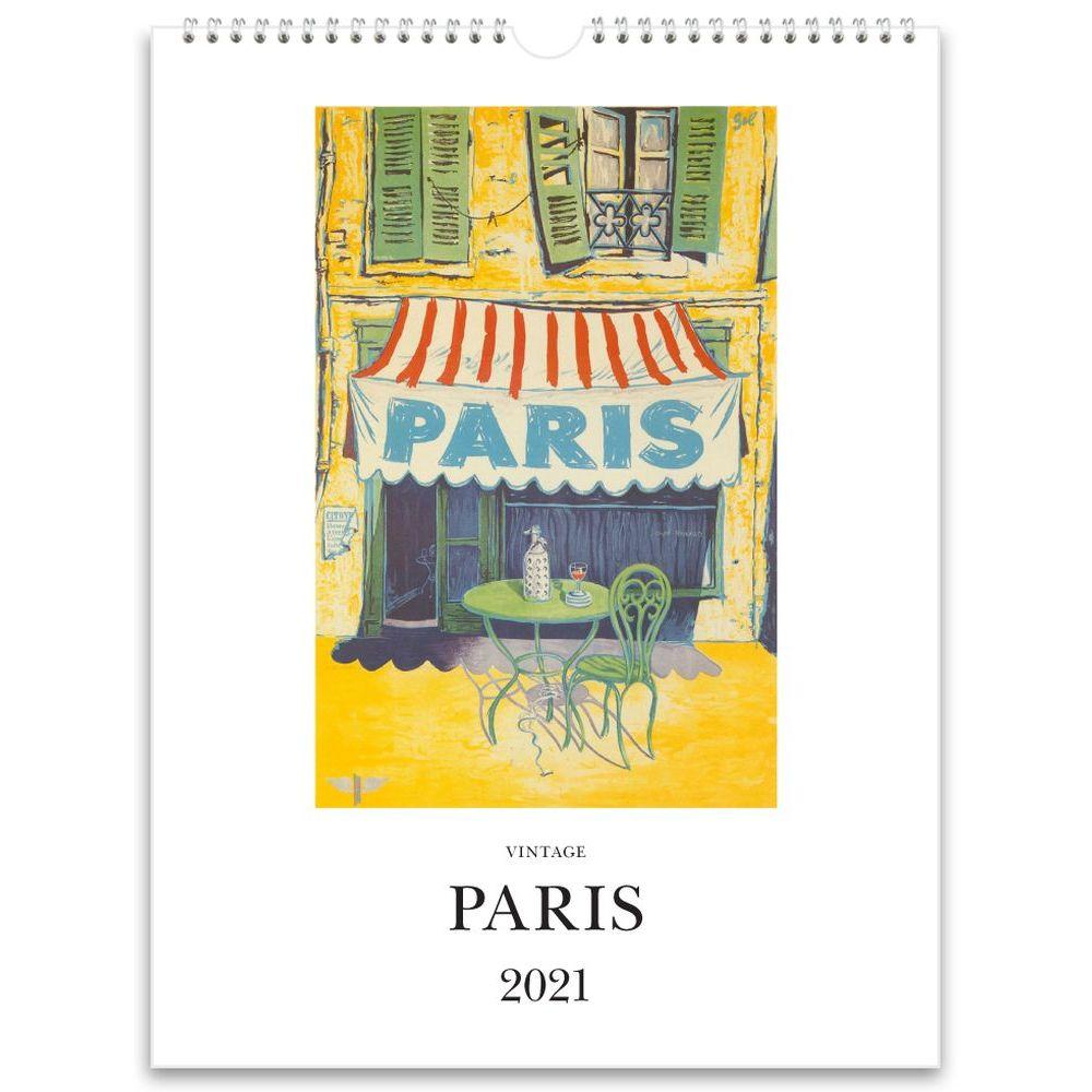 2021 Paris Nostalgic Poster Wall Calendar