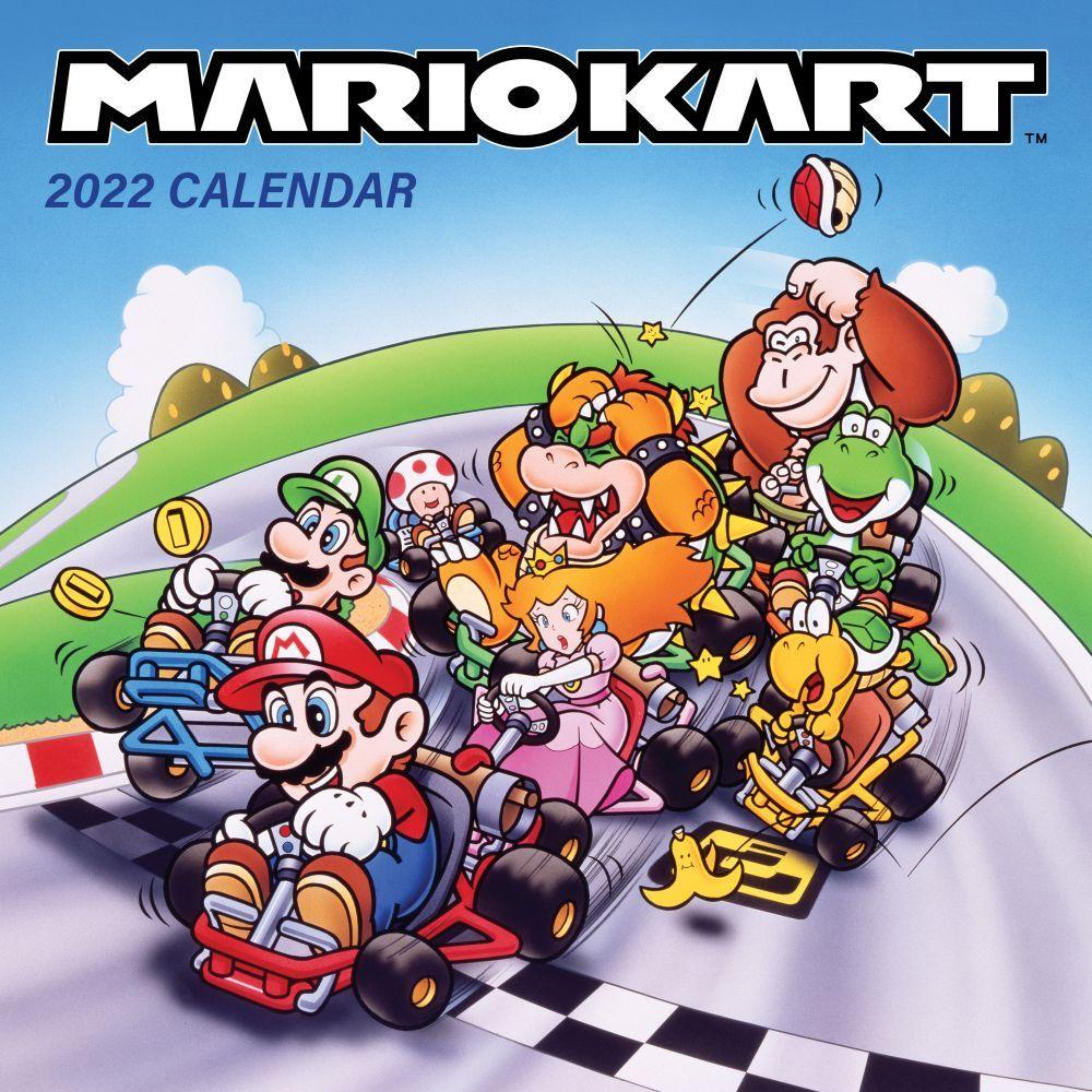 Mario Kart Retro 2022 Wall Calendar