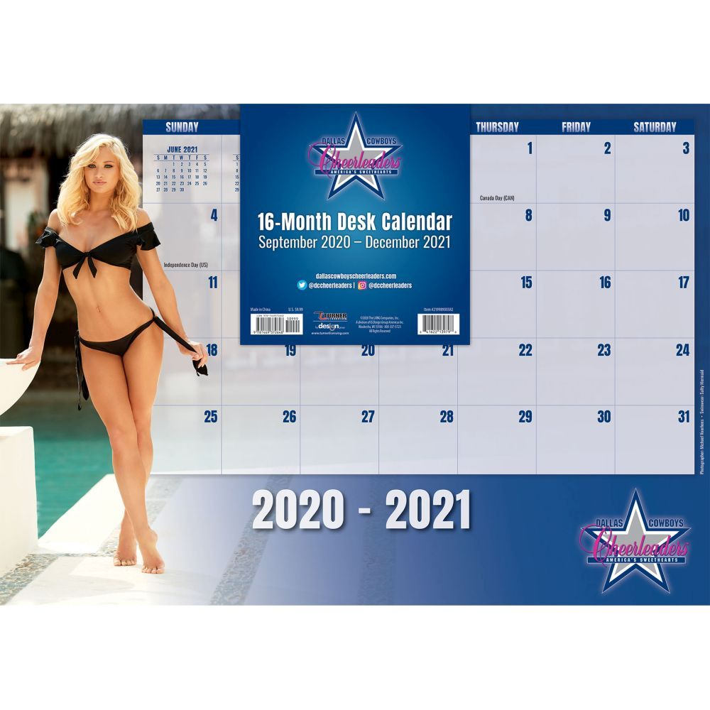 Dallas Cowboys Cheerleaders 2021 Desk Pad