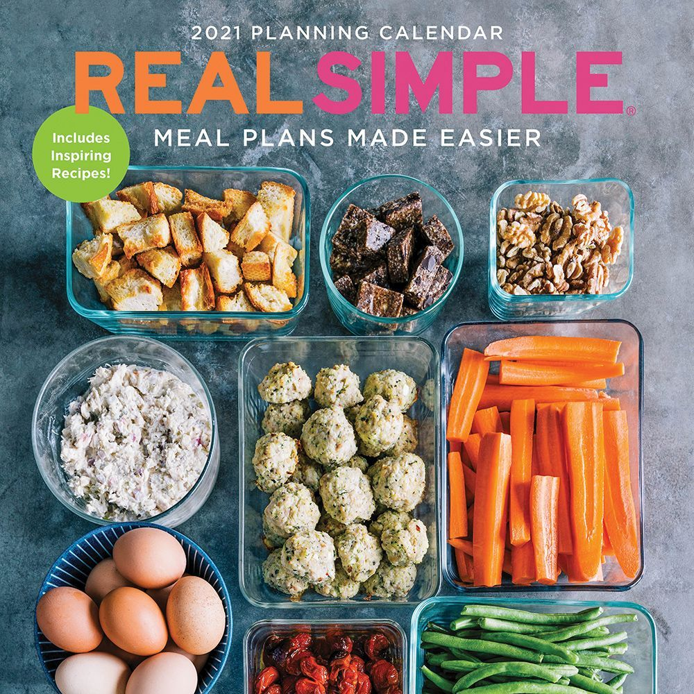 2021 Real Simple Meal Plans Made Easier Wall Calendar