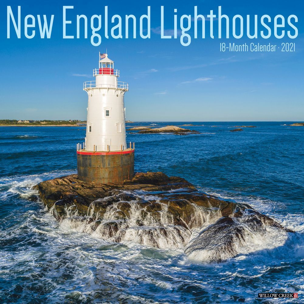 2021 New England Lighthouses Wall Calendar