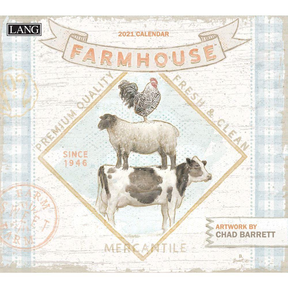 2021 Farmhouse Wall Calendar by Chad Barrett