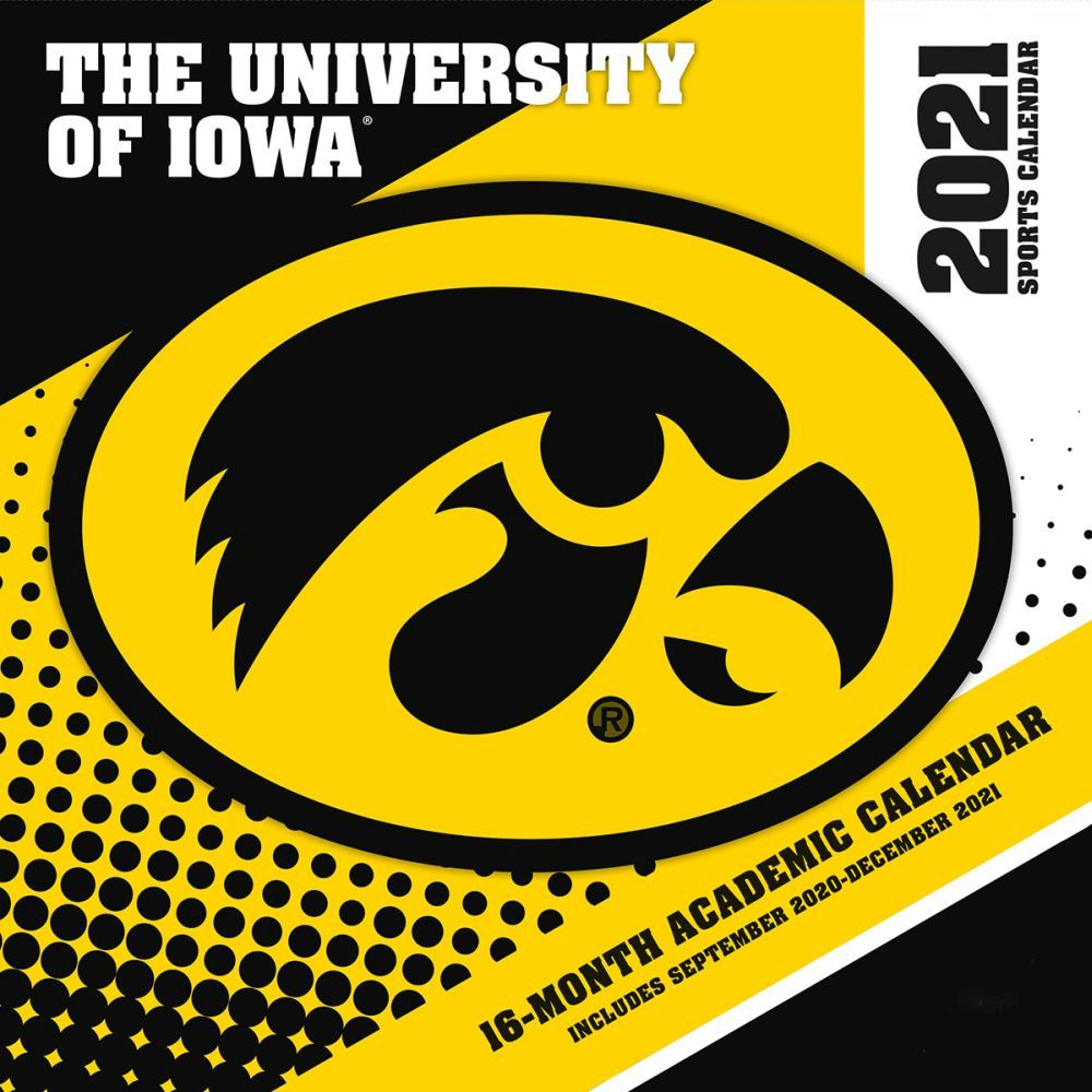2021 Iowa Hawkeyes Mini Wall Calendar