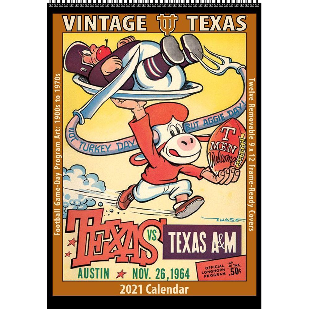 Vintage Texas Longhorns Football 2021 Poster Calendar