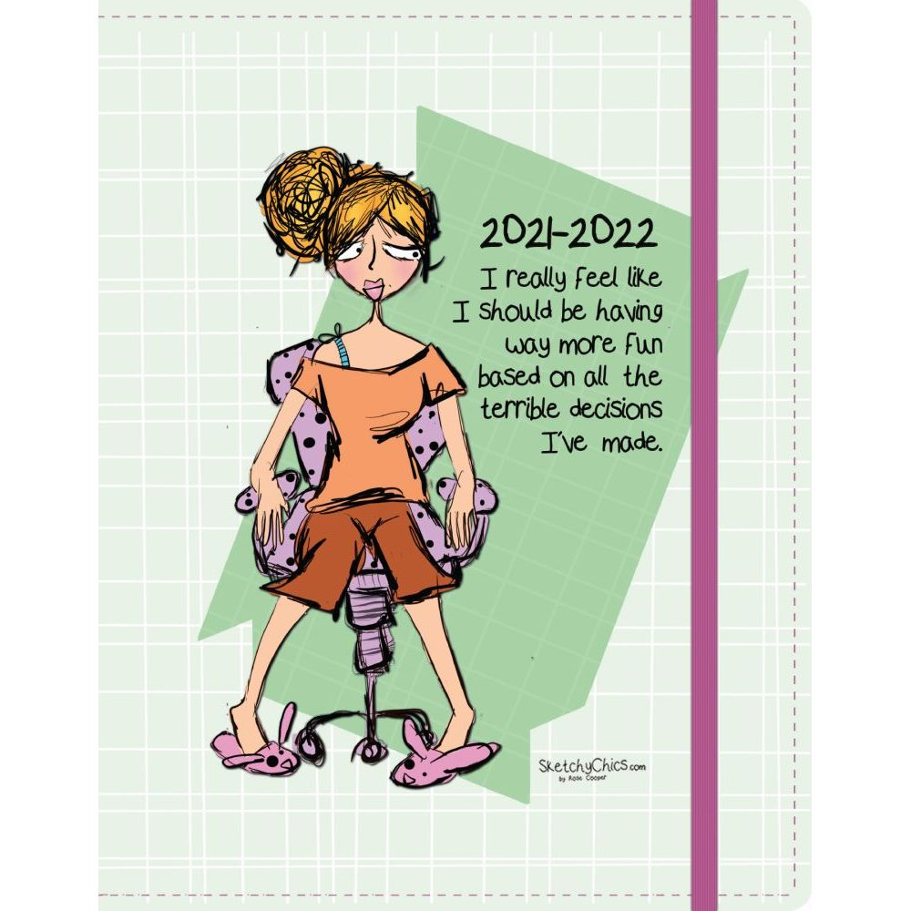 Sketchy Chics 2022 17Month Monthly Planner
