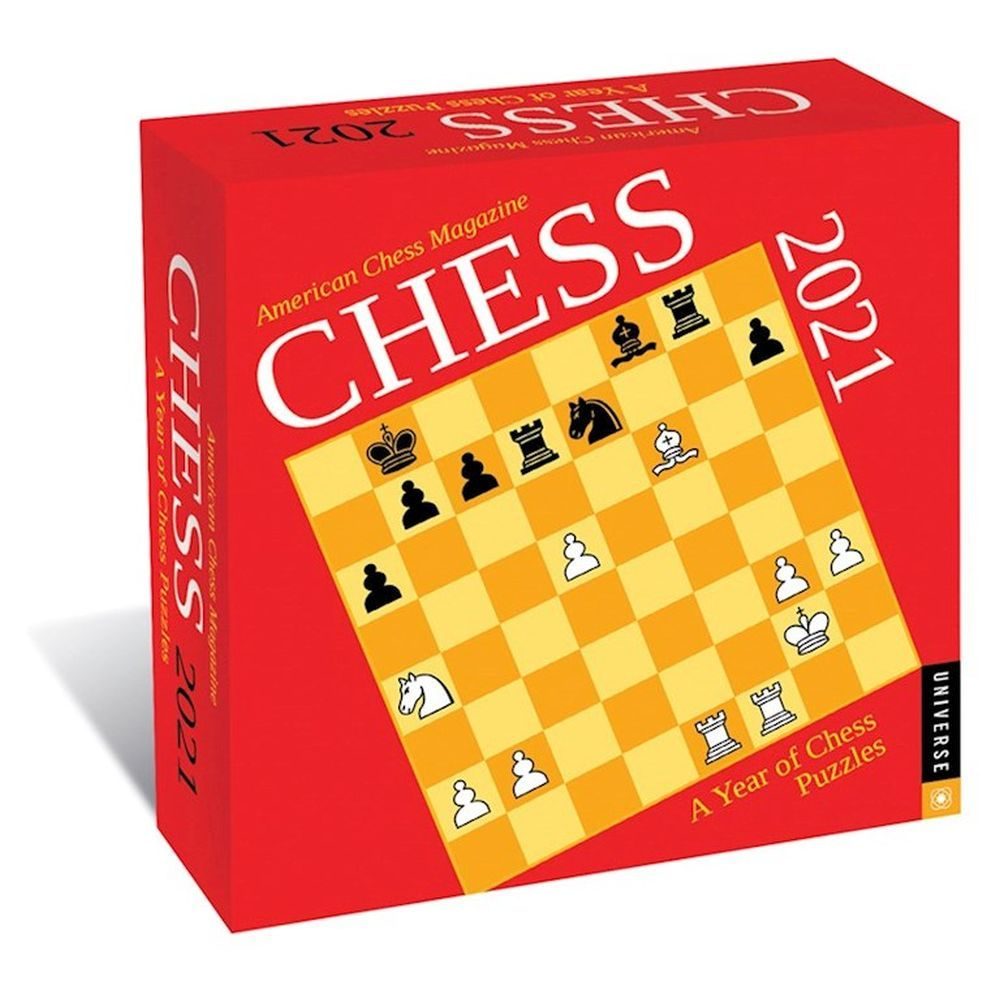Chess 2021 Desk Calendar
