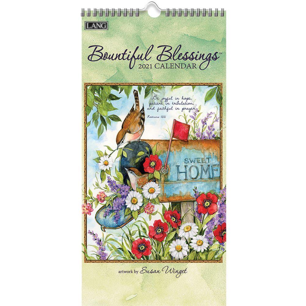 2021 Bountiful Blessings Vertical Wall Calendar by Susan Winget
