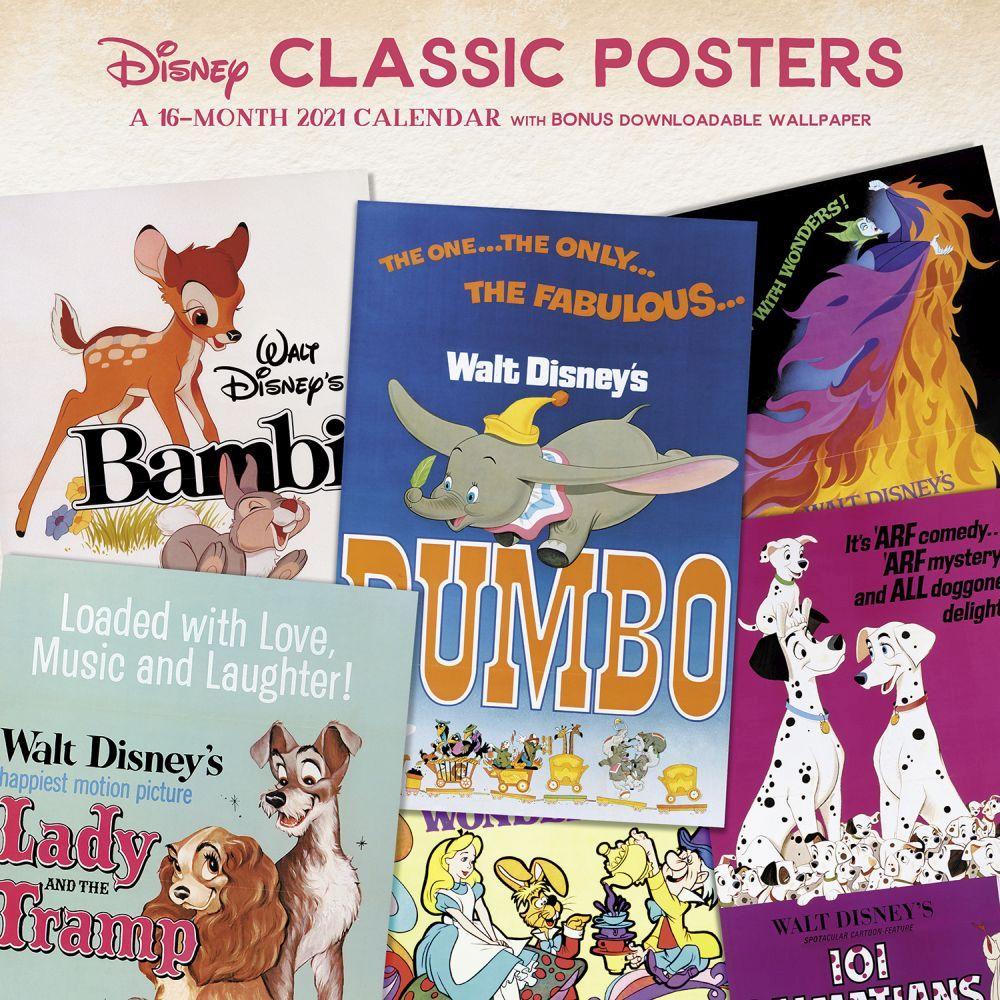 Disney Classic Posters 2021 Wall Calendar