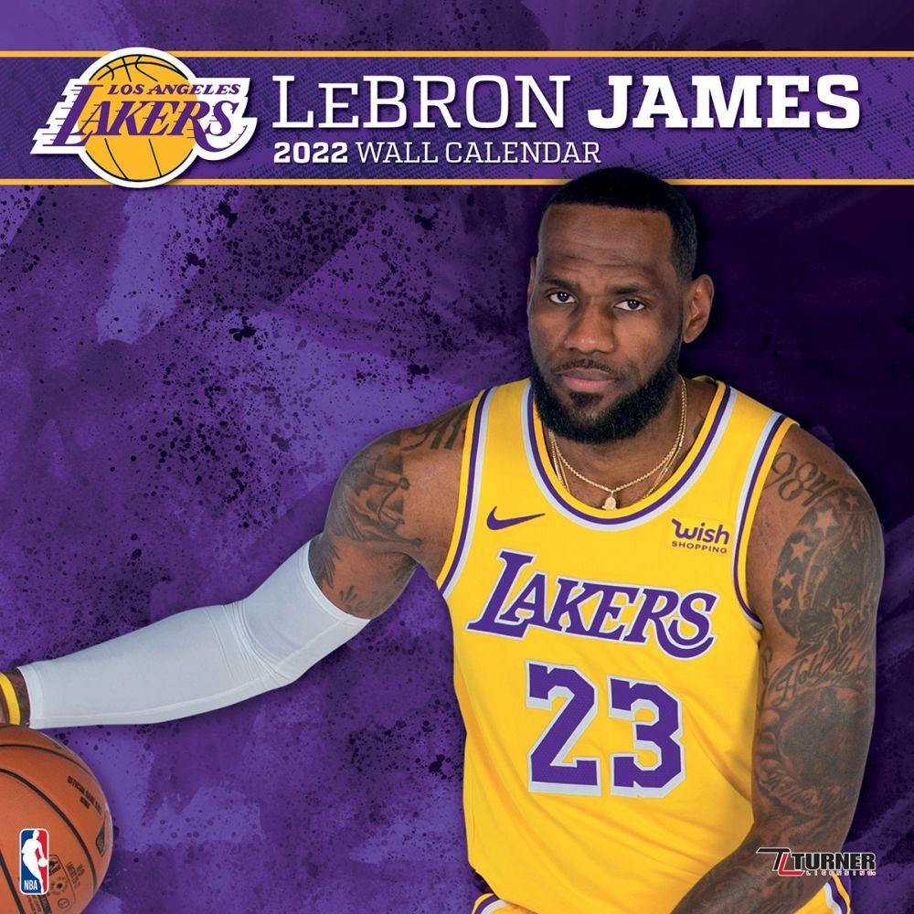Los Angeles Lakers Lebron James 2022 Wall Calendar