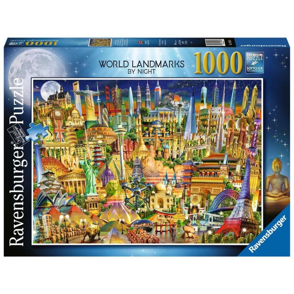 Best World Landmarks at Night 1000pc Puzzle You Can Buy