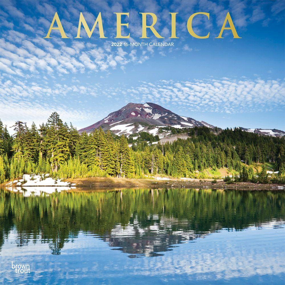 America 2022 Wall Calendar