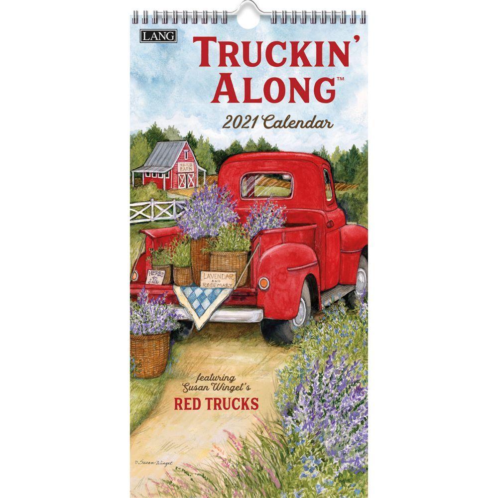 2021 Truckin'Along Vertical Wall Calendar by Susan Winget