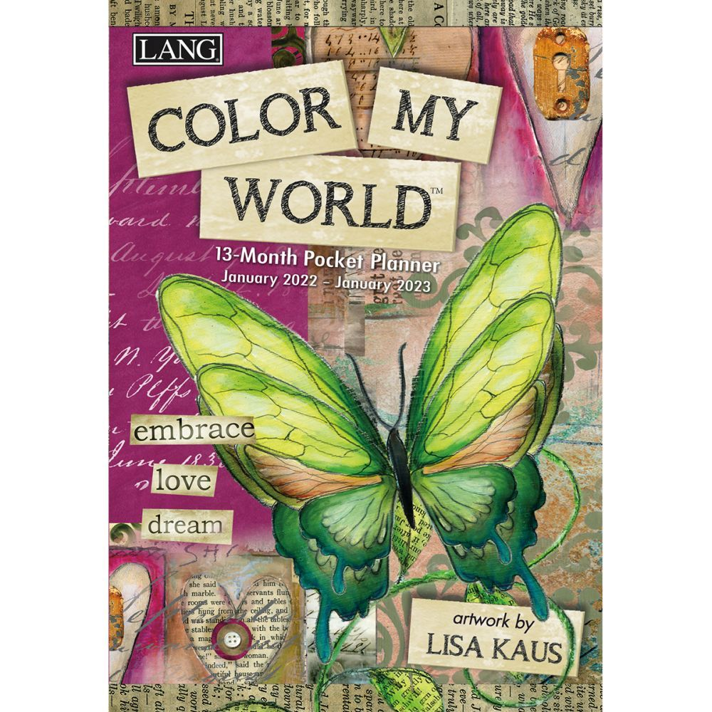 Color My World 2022 Monthly Pocket Planner