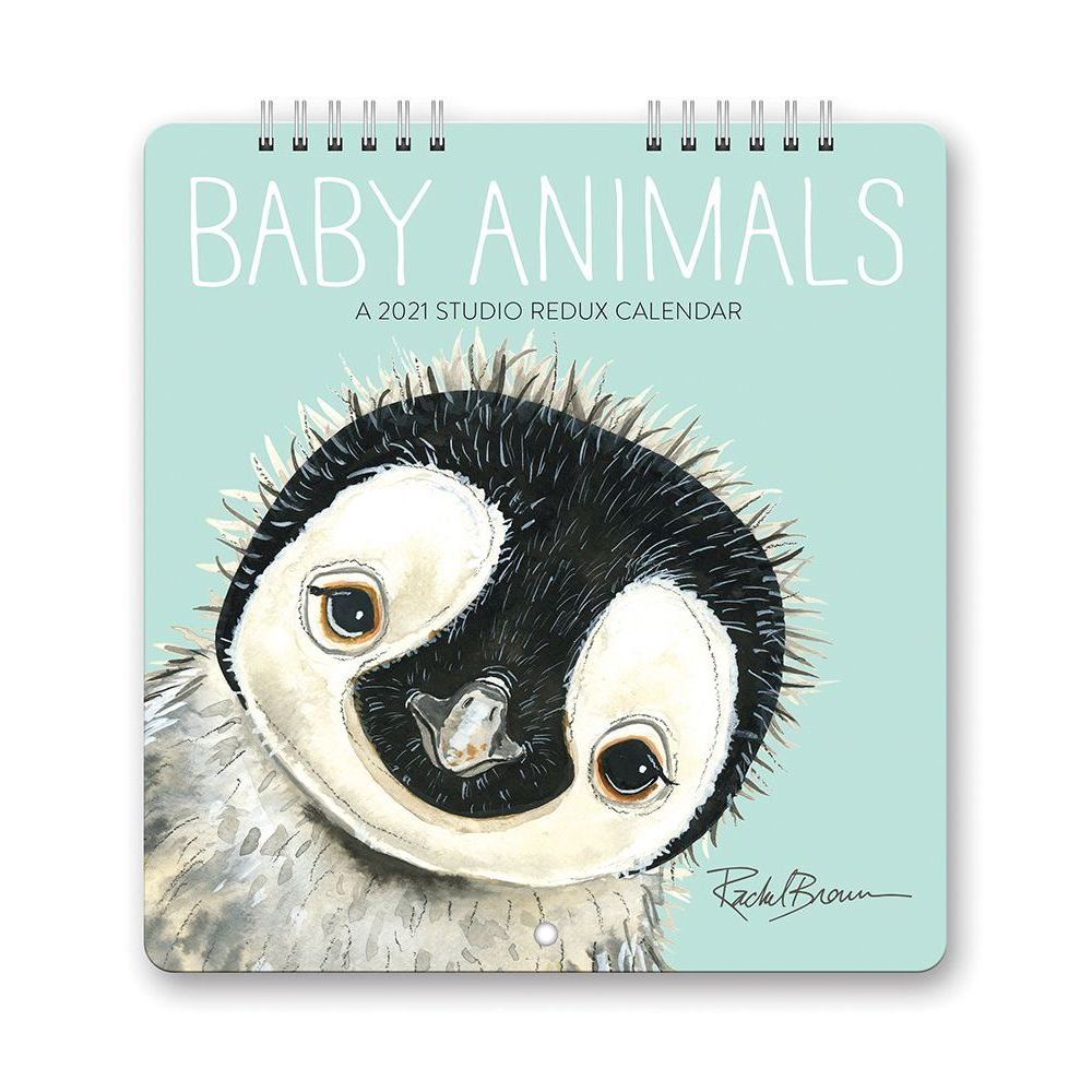 2021 Baby Animals Studio Redux Mini Wall Calendar