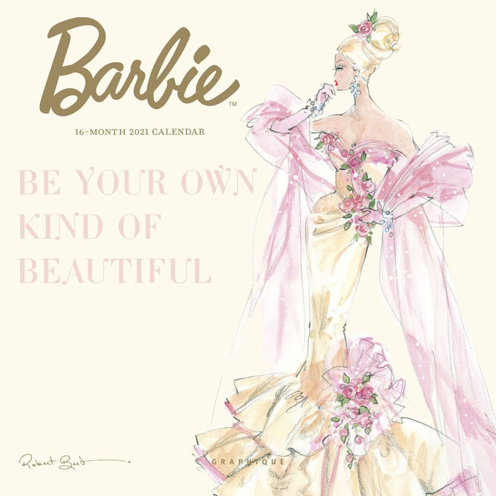 2021 Barbie Fashion Collection Mini Wall Calendar