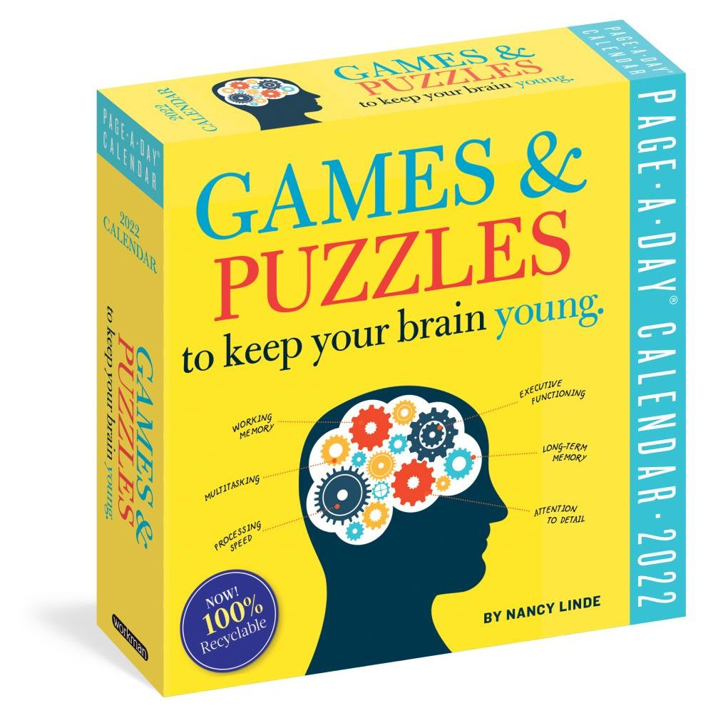 Games and Puzzles to Keep Your Brain Young 2022 Page-A-Day Calendar