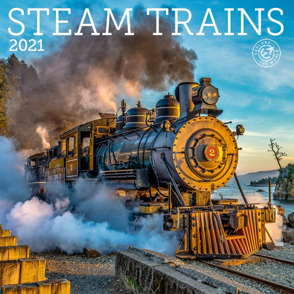 2021 Steam Trains Wall Calendar