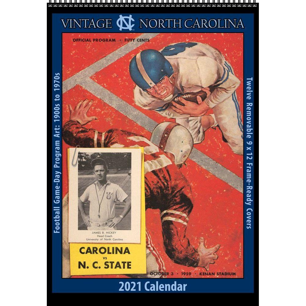 Vintage North Carolina Tar Heels Football 2021 Poster Calendar
