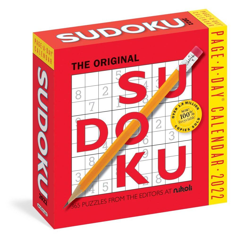 The Original Sudoku 2022 Desk Calendar