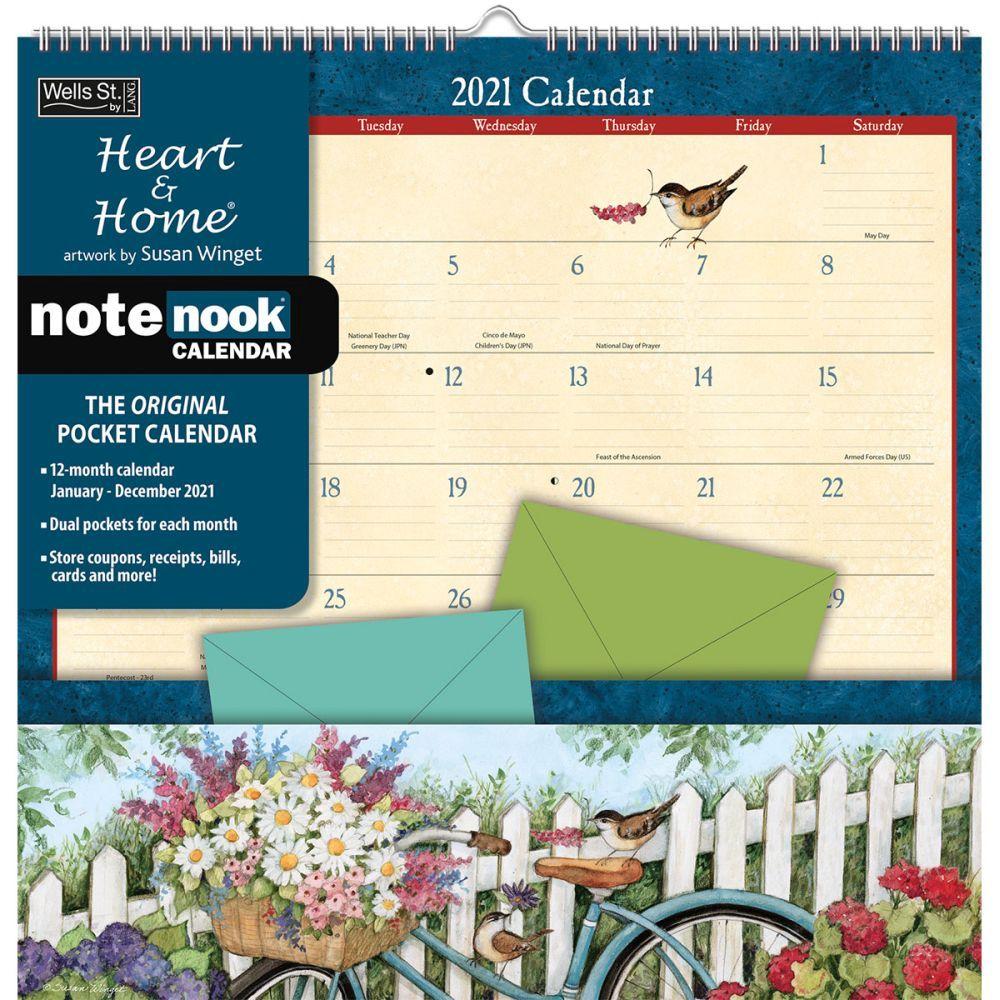 Heart and Home 2021 Pocket Wall Calendar