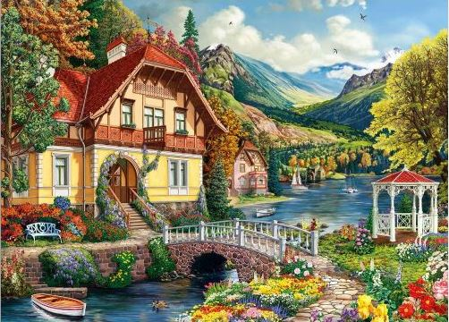 Best House by the Pond 1000pc Puzzle You Can Buy