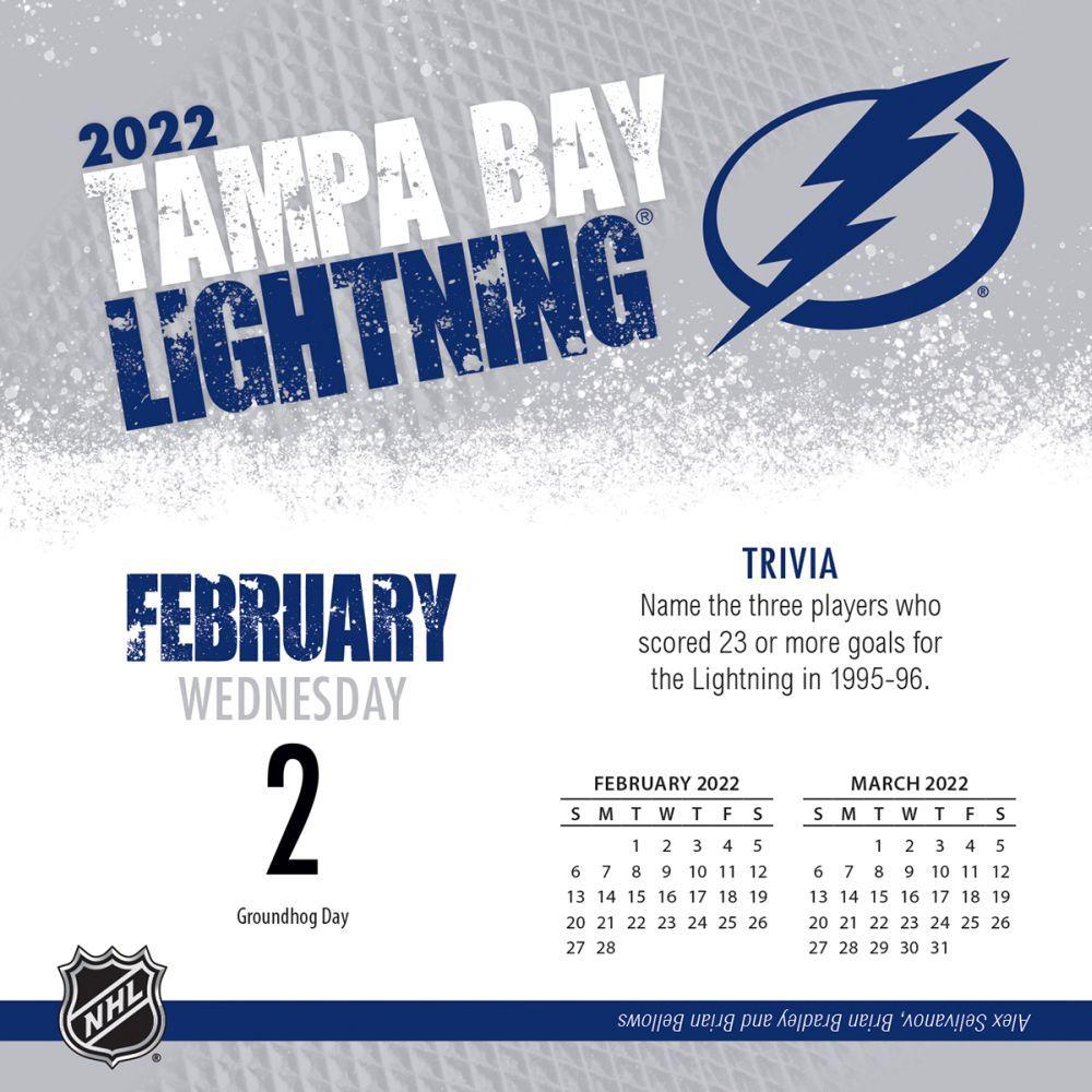 Tampa Bay Lightning 2022 Desk Calendar