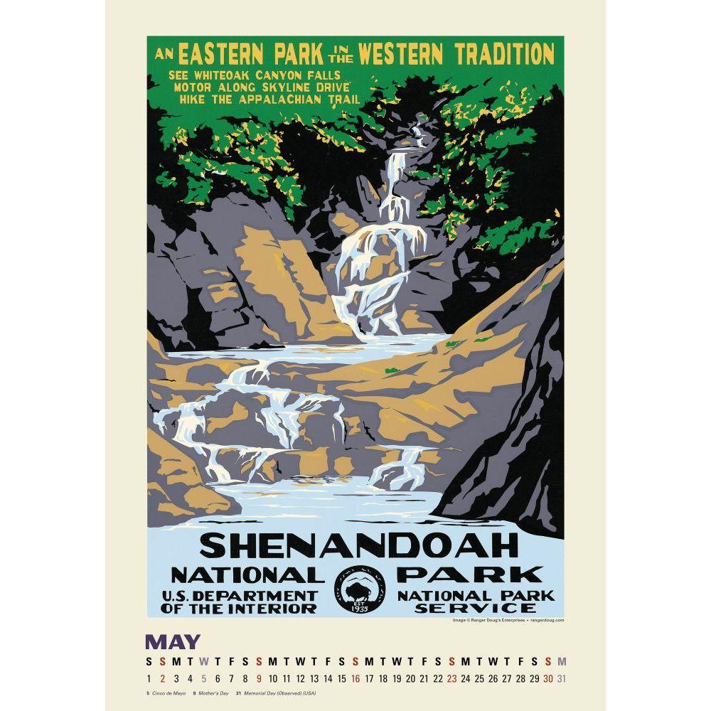 National Parks Poster Art Wall Calendar