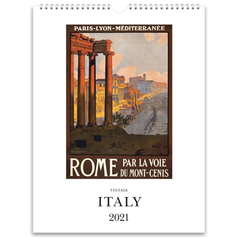 2021 Italy Nostalgic Poster Wall Calendar