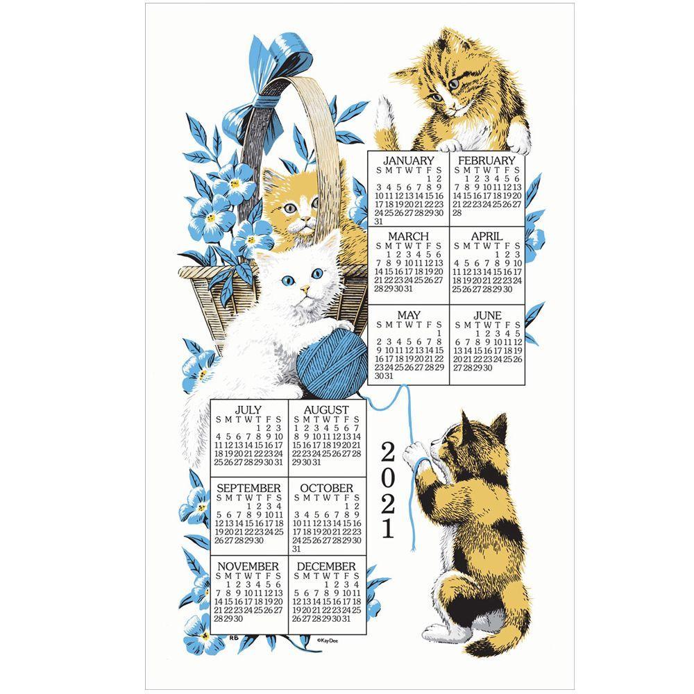 Curious Kittens 2021 Kitchen Towel Calendar