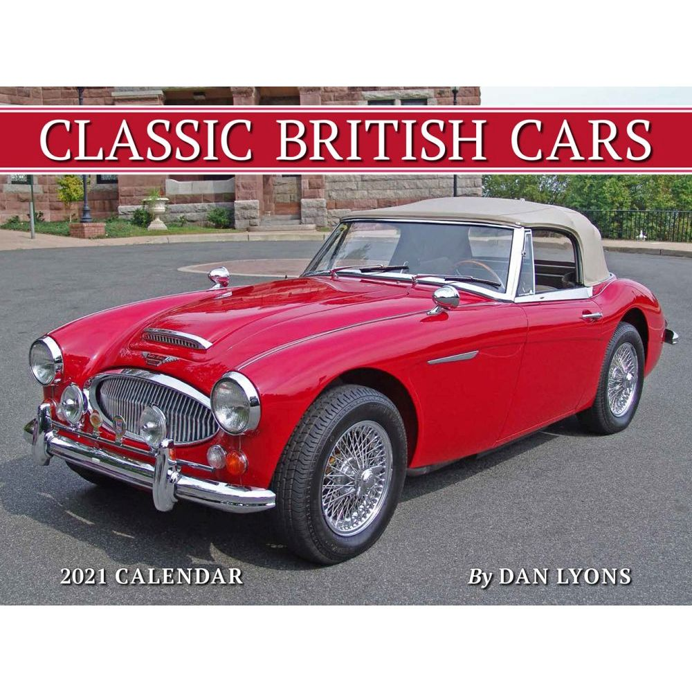 2021 British Cars Classic Wall Calendar