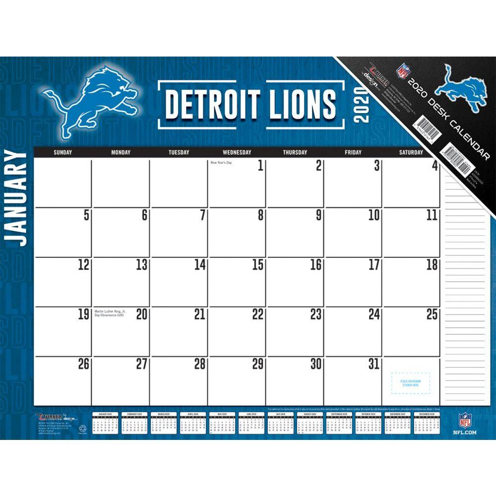 Detroit Lions 2021 Desk Pad