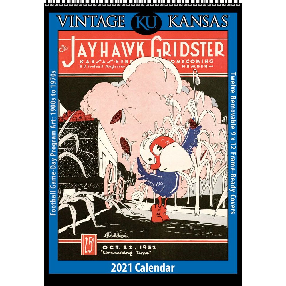2021 Kansas Vintage Basketball Wall Calendar