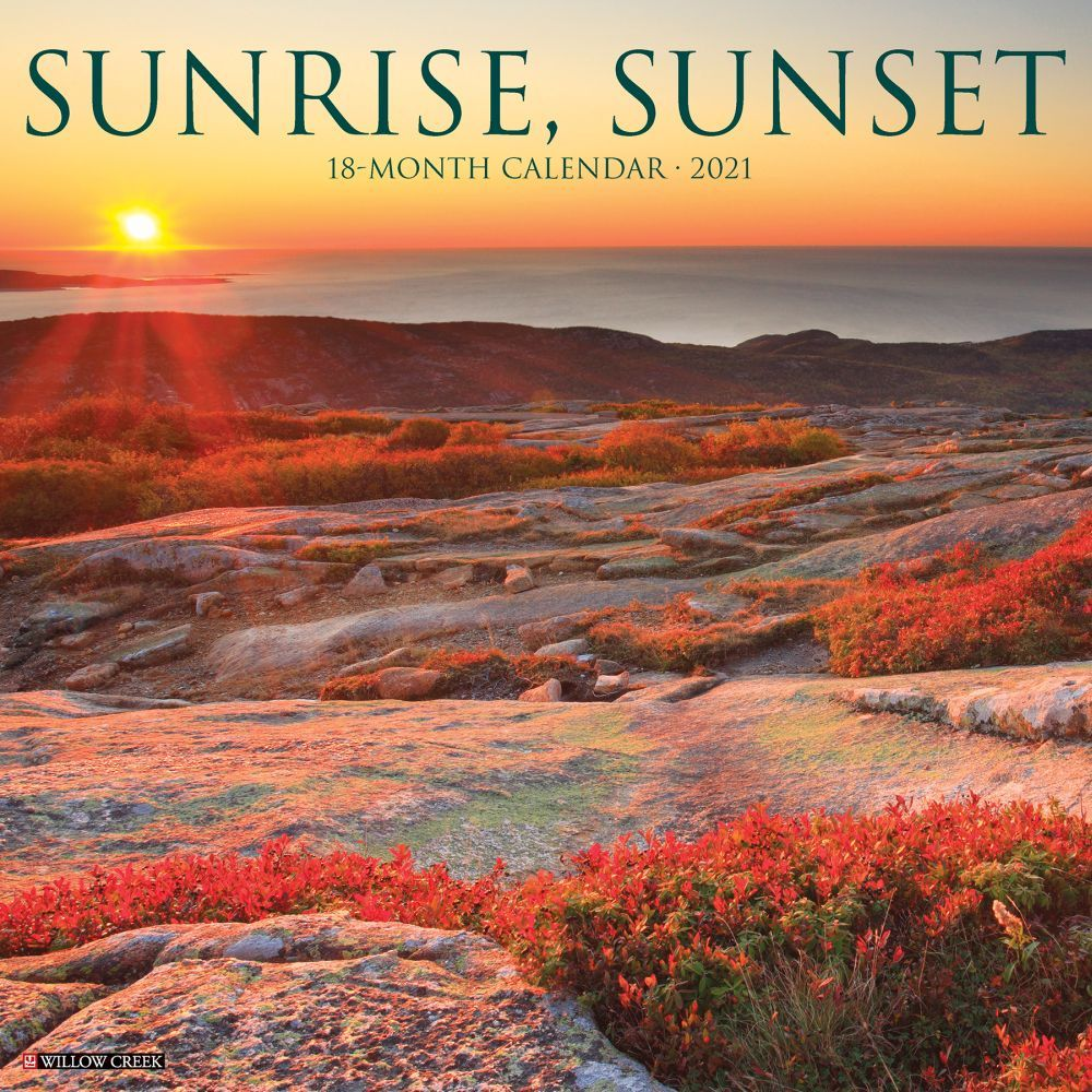 2021 Sunrise Sunset Wall Calendar