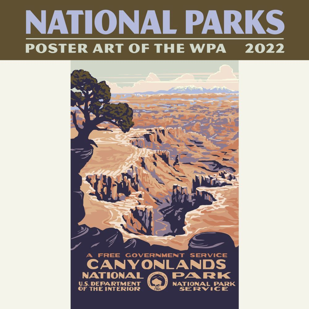 National Parks Poster Art of the WPA 2022 Mini Wall Calendar