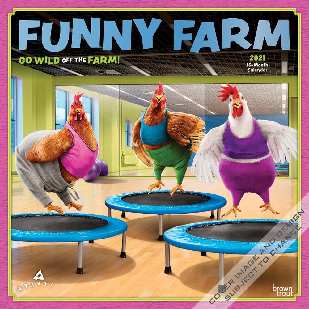 2021 Funny Farm Wall Calendar