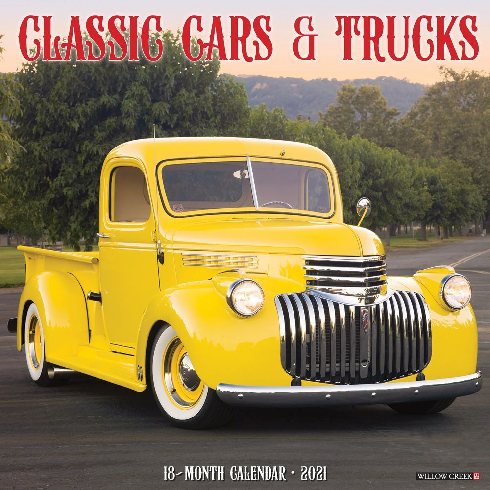 2021 Cars and Trucks Classic Wall Calendar