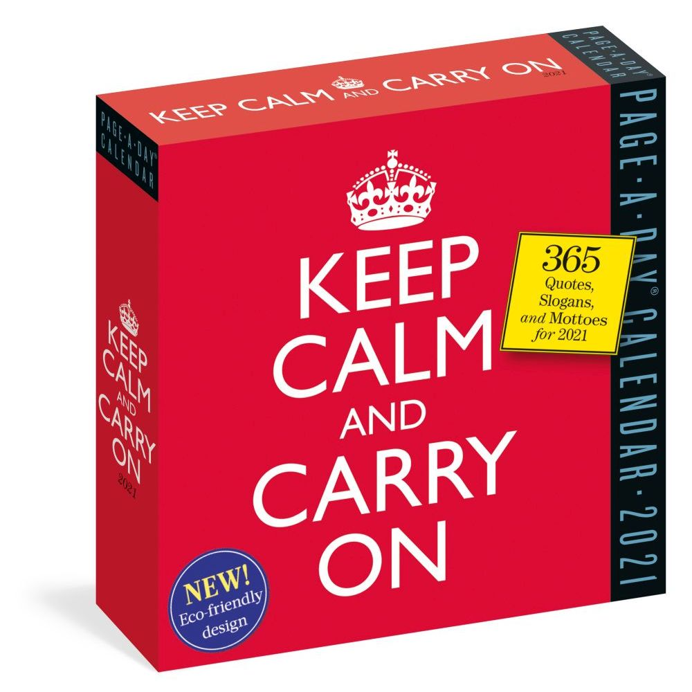 2021 Keep Calm and Carry On Quotes Desk Calendar