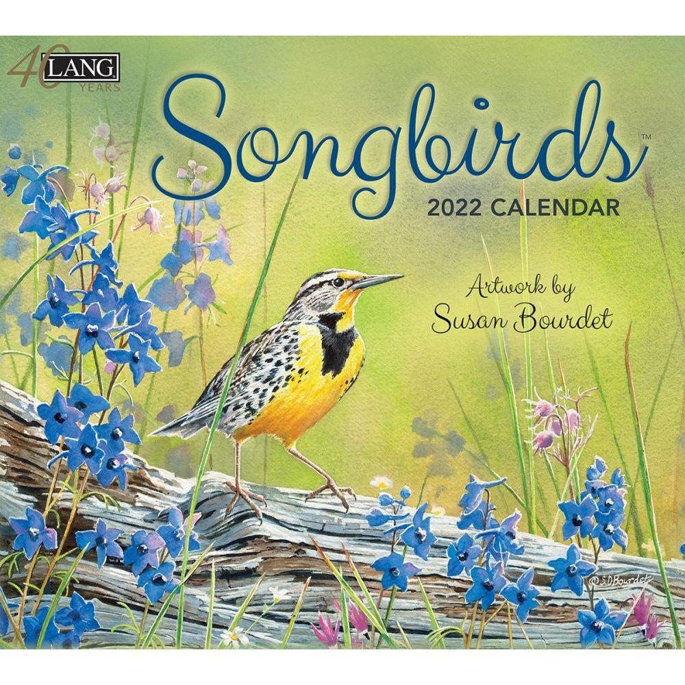 Songbirds 2022 Wall Calendar