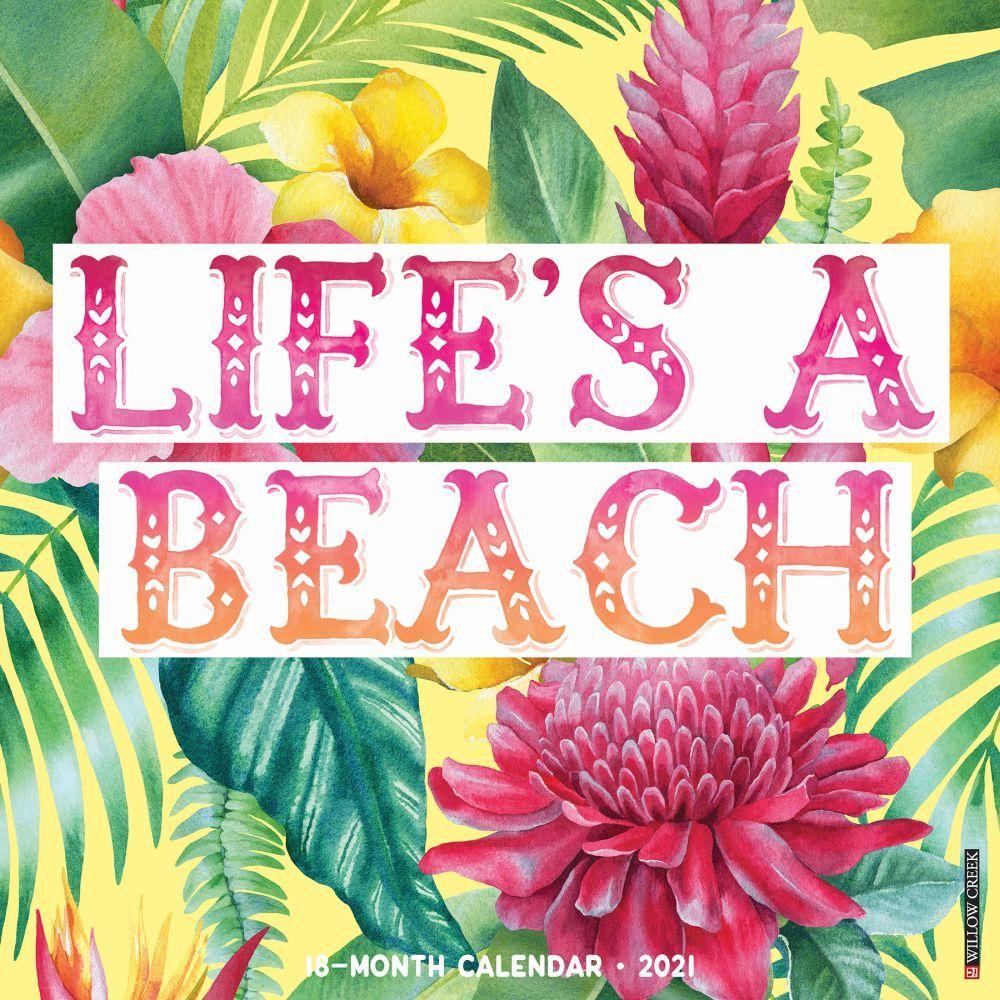 2021 Lifes a Beach Wall Calendar