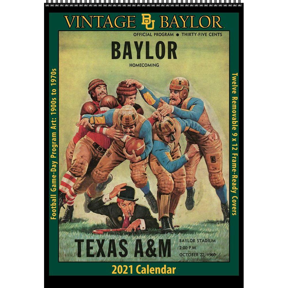 Vintage Baylor Bears Football 2021 Poster Calendar