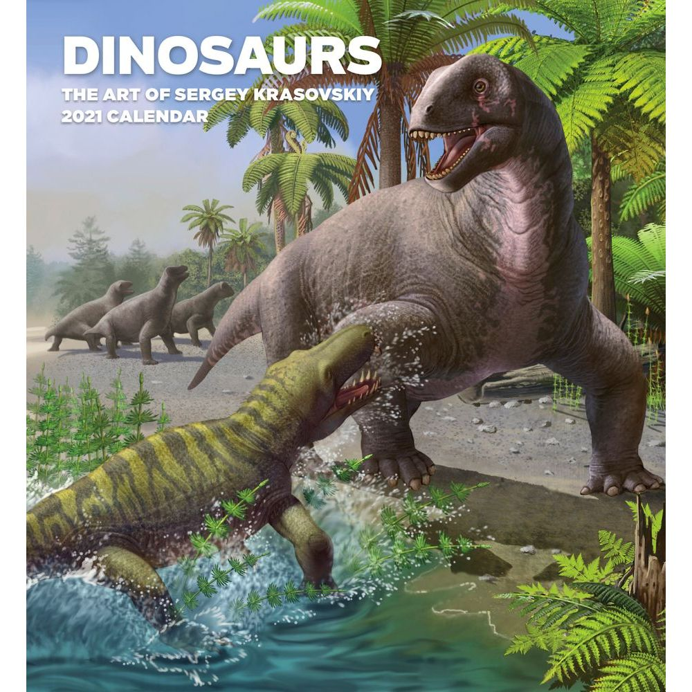 2021 Dinosaurs Hallett Art Wall Calendar
