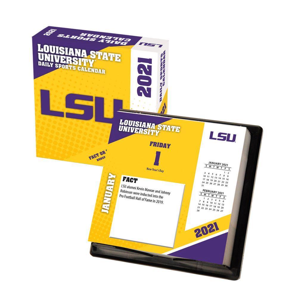 2021 Louisiana State Tigers Desk Calendar