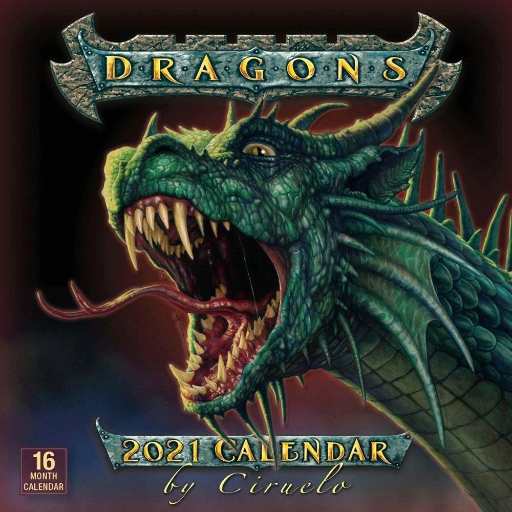 Dragons 2021 Wall Calendar