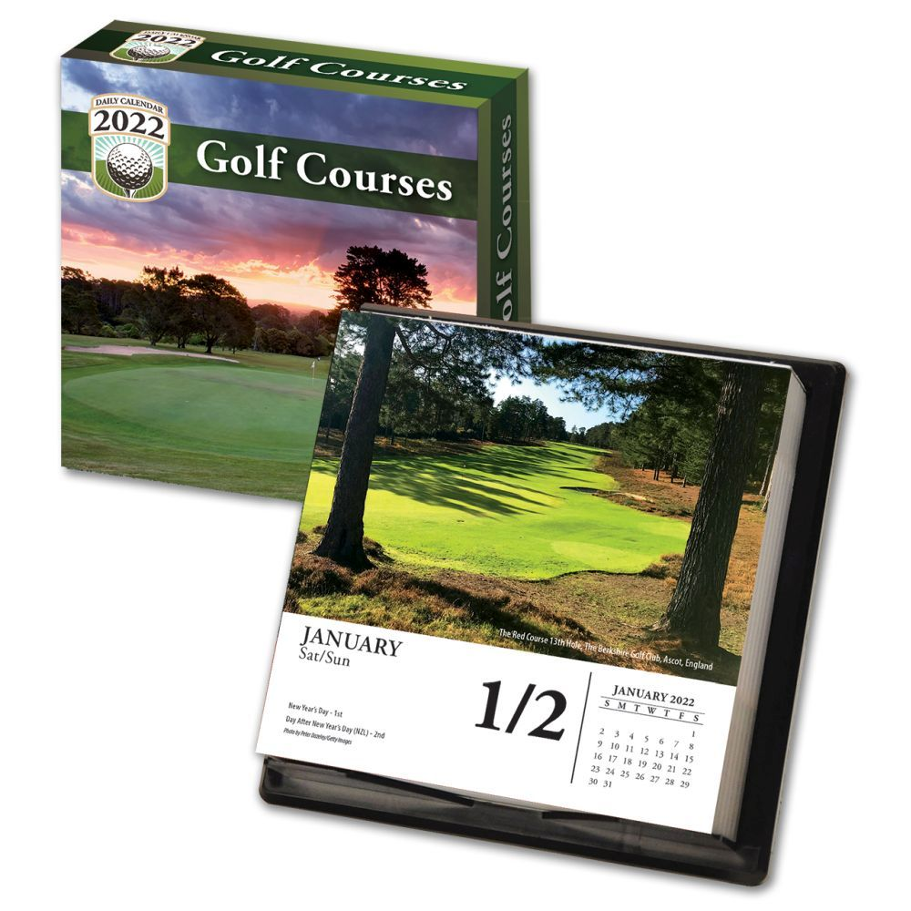 Golf Courses 2022 Desk Calendar