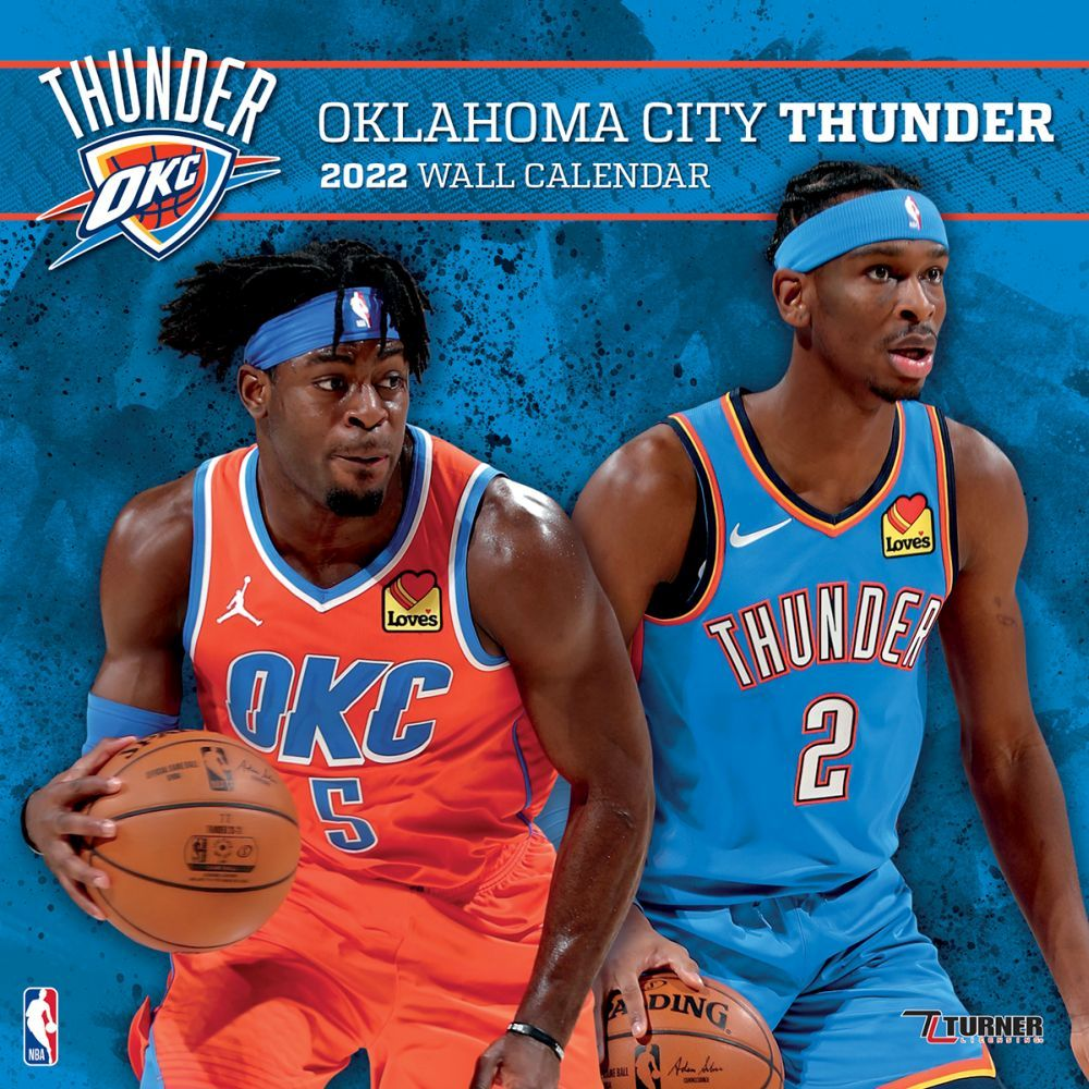 Oklahoma City Thunder 2022 Wall Calendar